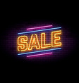 neon sign in retro style for sale and discount vector image vector image