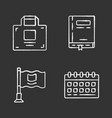 office accessories chalk icons set business vector image vector image