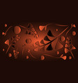 pattern of bronze black plants and blades of vector image vector image