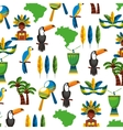 pattern tropical set icons vector image vector image