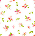 pattern with little pink flowers vector image vector image