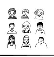people face cartoon icon design vector image