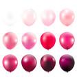 pink balloons card