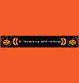 please keep safe distance sign for covid-19 vector image vector image