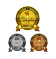 ranking awards badges set vector image