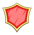 Red blank safety shield icon cartoon style vector image vector image