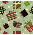 Retro Christmas Gift boxes vector image vector image