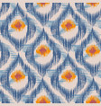 retro ikat blue pattern vector image vector image