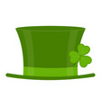 saint patricks day hat vector image vector image