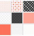 seamless pattern polka dot collection vector image vector image