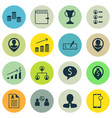 set 16 management icons includes bank payment vector image vector image