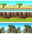 Set nature backgrounds horisontal tiled patterns vector image vector image