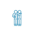sharing secrets linear icon concept sharing vector image