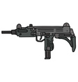 Short automatic gun vector image vector image