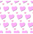 simple striped heart vector image