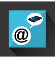 smartphone blue screen unlock icon mail at vector image