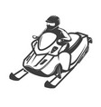 snowmobile icon isolated on white background vector image vector image