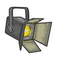 spotlight projector sketch engraving vector image vector image