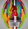 summer sport design series cycling theme vector image vector image