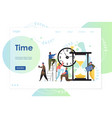 time website landing page design template vector image vector image