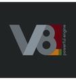 V8 V8 Powerfull Engine vector image