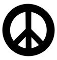 Peace sign Anti-war symbol isolated on white vector image