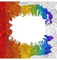 Rainbow flower doodle pattern vector image