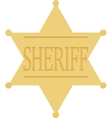 Sheriff badge star icon isolated on white vector image