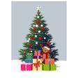 Christmas Tree Presents vector image