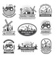 signs and labels for farm market monochrome vector image