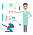 Stomatologist Dental care flat decorative icons vector image