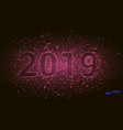 2019 happy new year background with number vector image