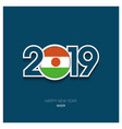 2019 niger typography happy new year background vector image vector image