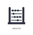 abacus toy icon on white background simple vector image vector image