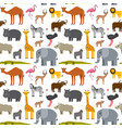 African or zoo animals seamless pattern cute
