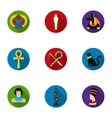 Ancient Egypt set icons in flat style Big vector image vector image