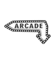 Arcade Light Sign Arrow vector image