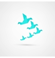 Blue origami bird vector image vector image