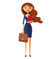 business carroty lady office worker woman vector image
