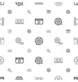 cinematography icons pattern seamless white vector image vector image