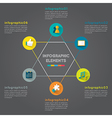 Circle star infographic Business concept vector image