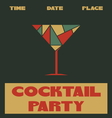 Coctail party poster2 vector image vector image