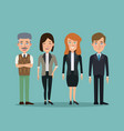 color background full body set people executives vector image vector image