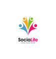 colorful social life logo sign symbol icon vector image