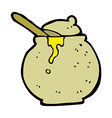 comic cartoon honey pot vector image vector image