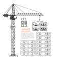 crane loading dollars art money vector image vector image
