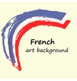 Creative background in the French colors France vector image