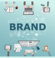 creative of business brand vector image vector image