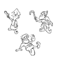 elves outline vector image vector image