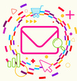 Envelope on abstract colorful geometric light vector image